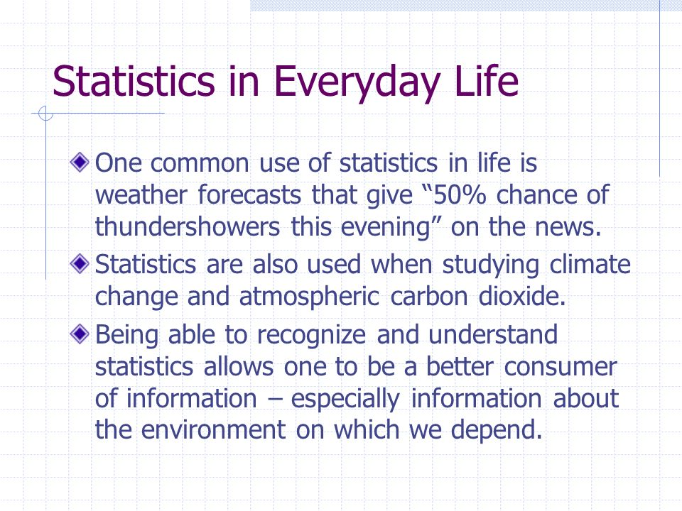 statistics in our daily life