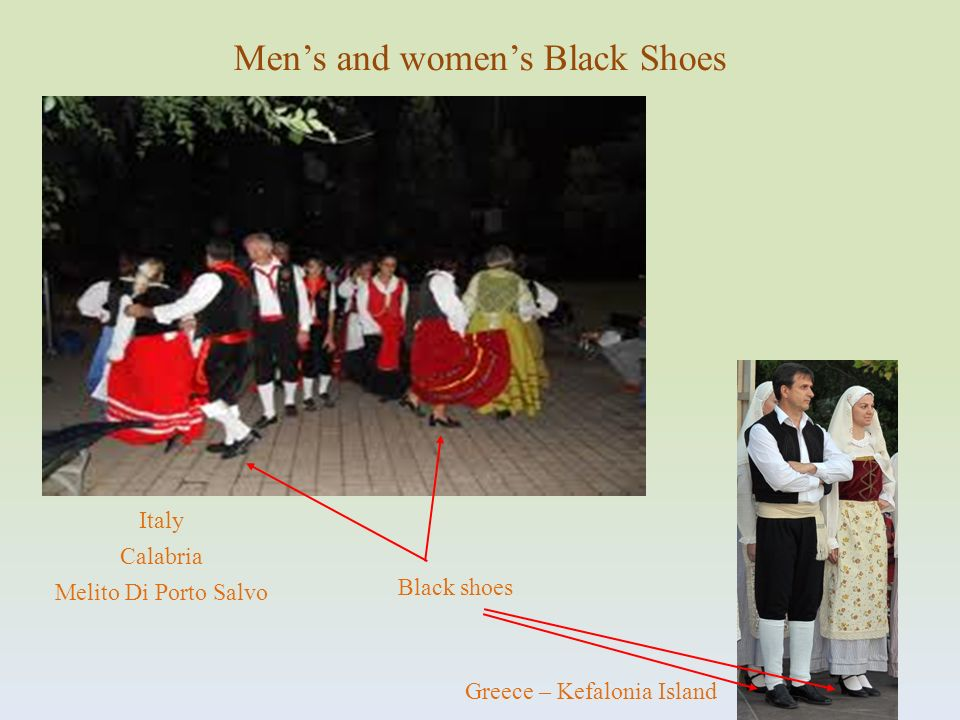 Men's and women's Black Shoes