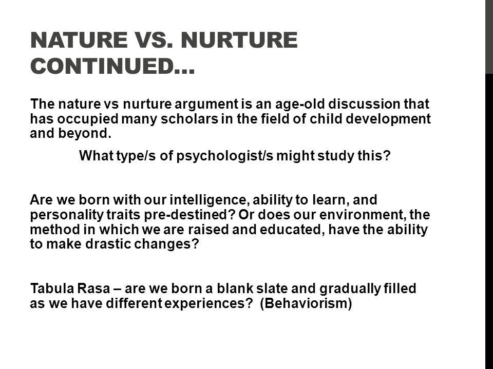 behaviorism nature vs nurture