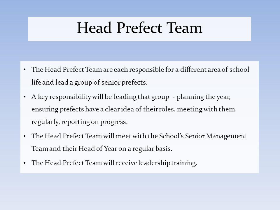 write a manifesto for a school prefect