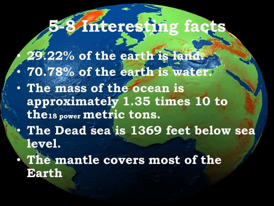 big question how much water covers the earth ppt download
