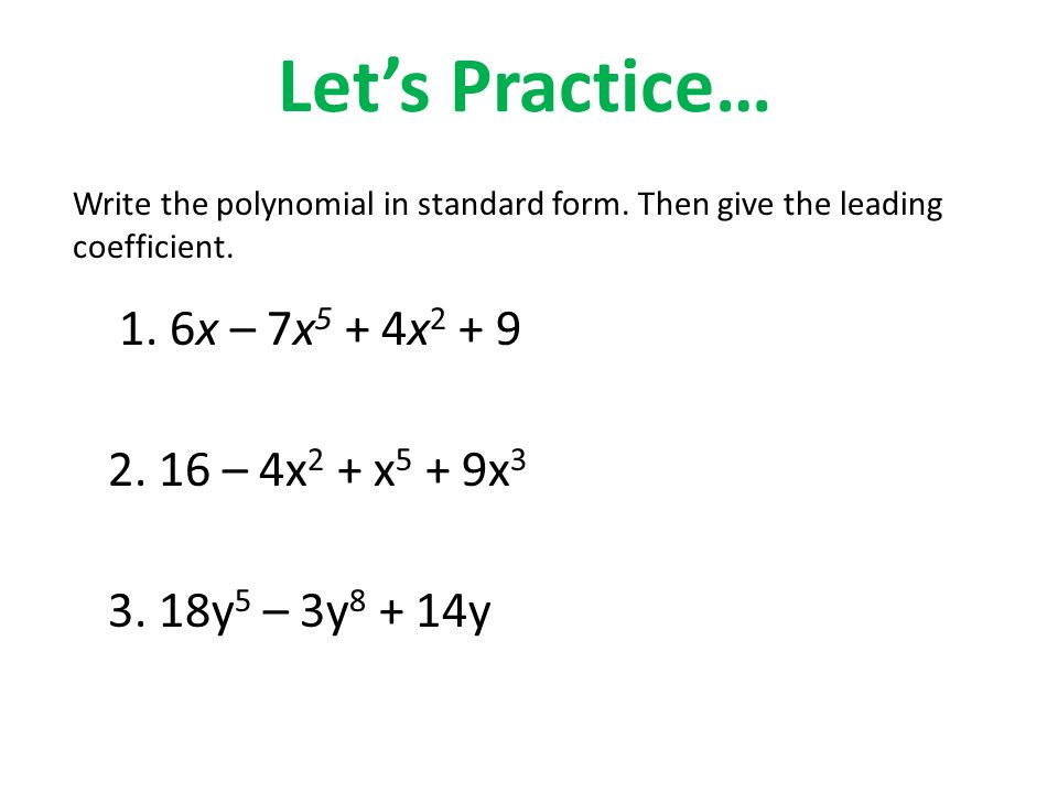 Topic 7 Polynomials Ppt Video Online Download
