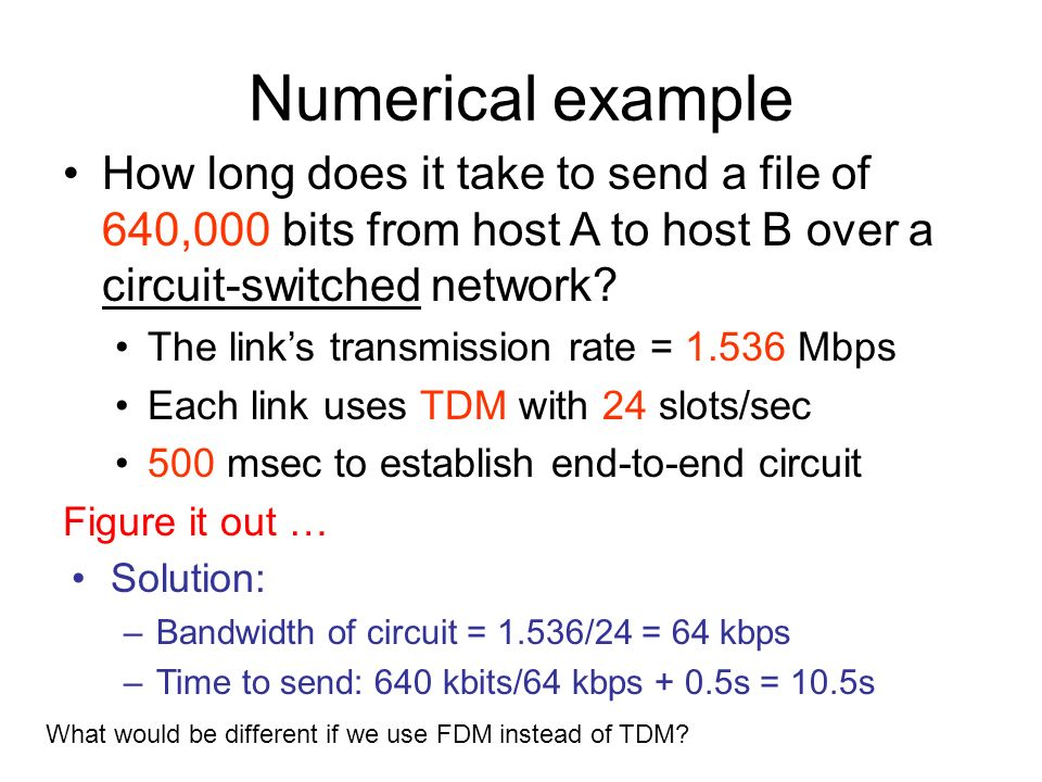 how long does it take to deliver a letter cse 413 computer network circuit switching and packet 10184