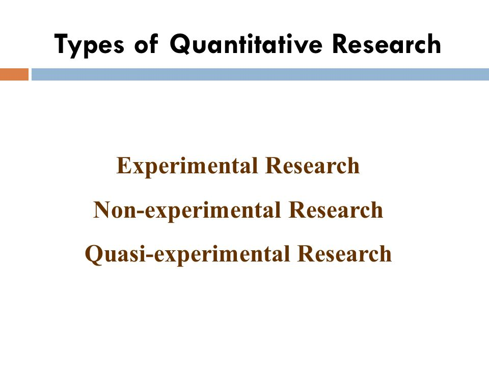 types of non experimental research