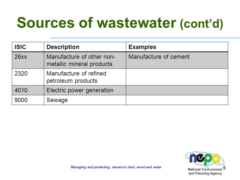 management of wastewater in jamaica a regulatory perspective ppt
