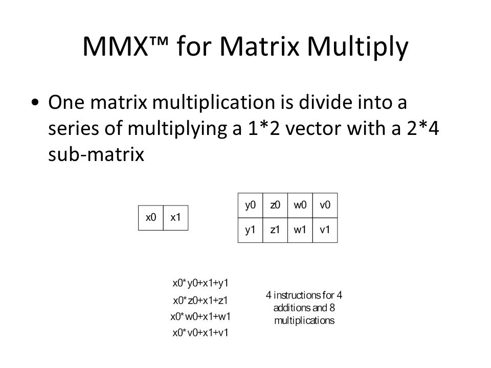 MMX-accelerated Matrix Multiplication - ppt video online download