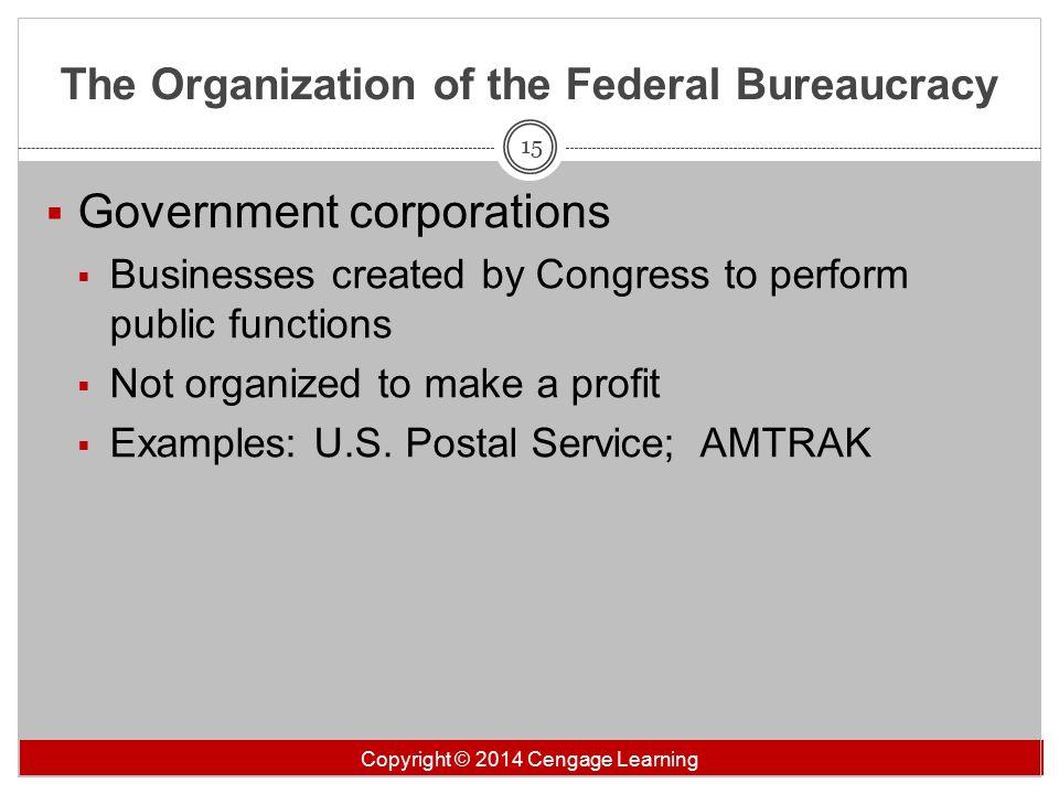 federal bureaucracy examples