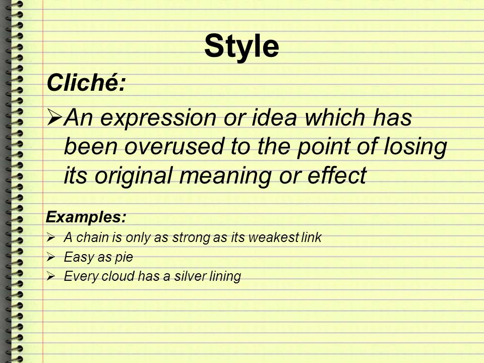 cliche meaning and examples