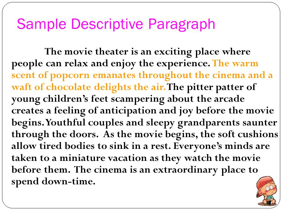 example of descriptive text about place