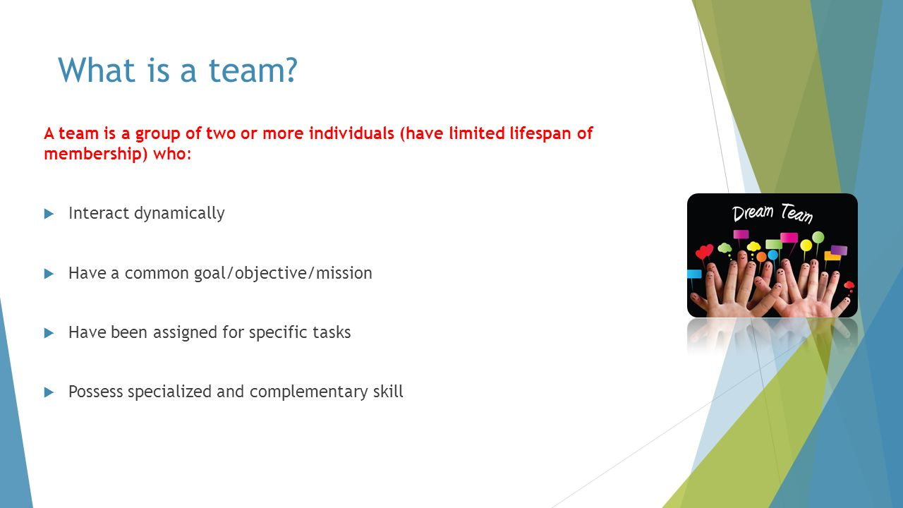 what is team effectiveness Set-piece team building exercises are one way to strengthen the bonds within your team, but they are not a shortcut to success instead, you need to make team building part of your group's mindset think about the team building potential of routine workplace activities, first.