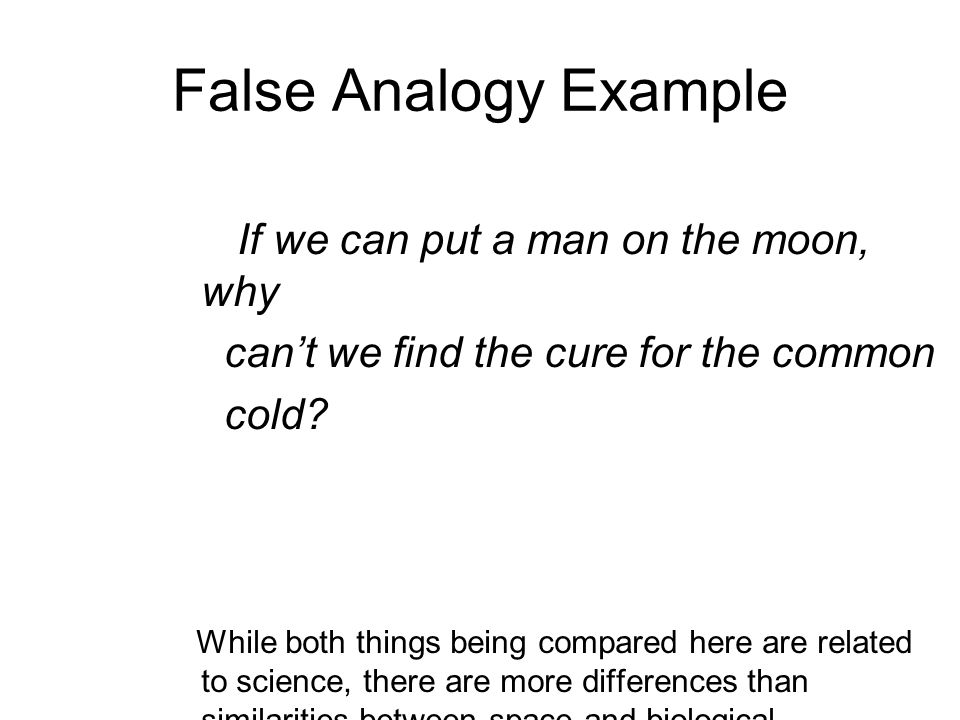 Faulty Analogy Examples Choice Image Example Cover Letter For Resume