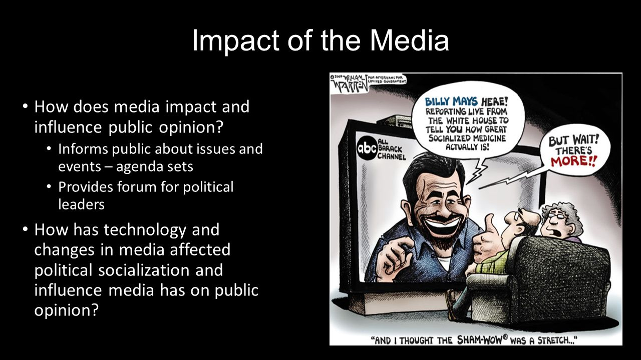 how does mass media influence public policy