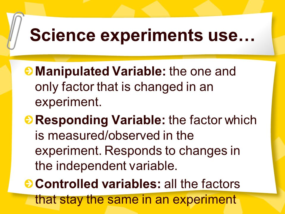 Manipulated Variable In Science