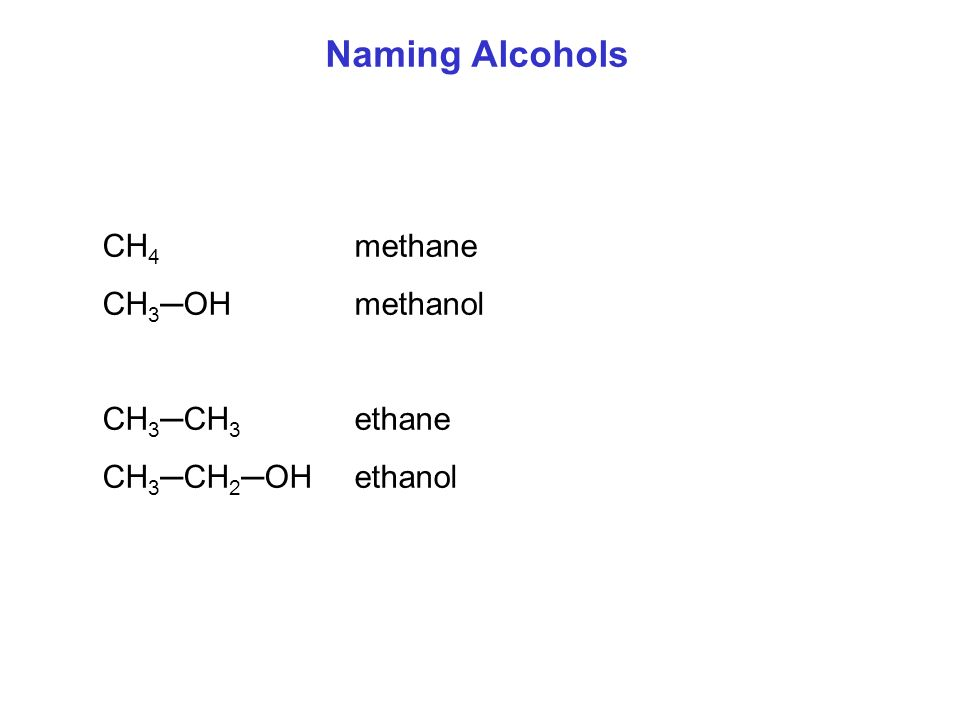 Alcohols Contain A Hydroxyl Group Oh Ppt Video Online. Worksheet. Naming Alcohols Worksheet At Clickcart.co