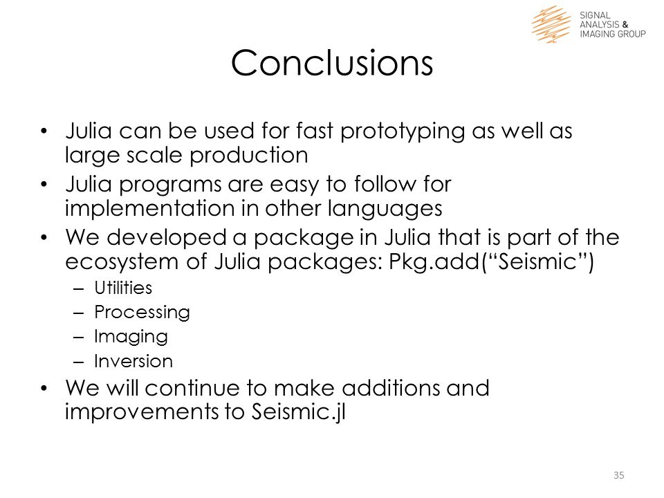 Efficient Geophysical Research in Julia - ppt download