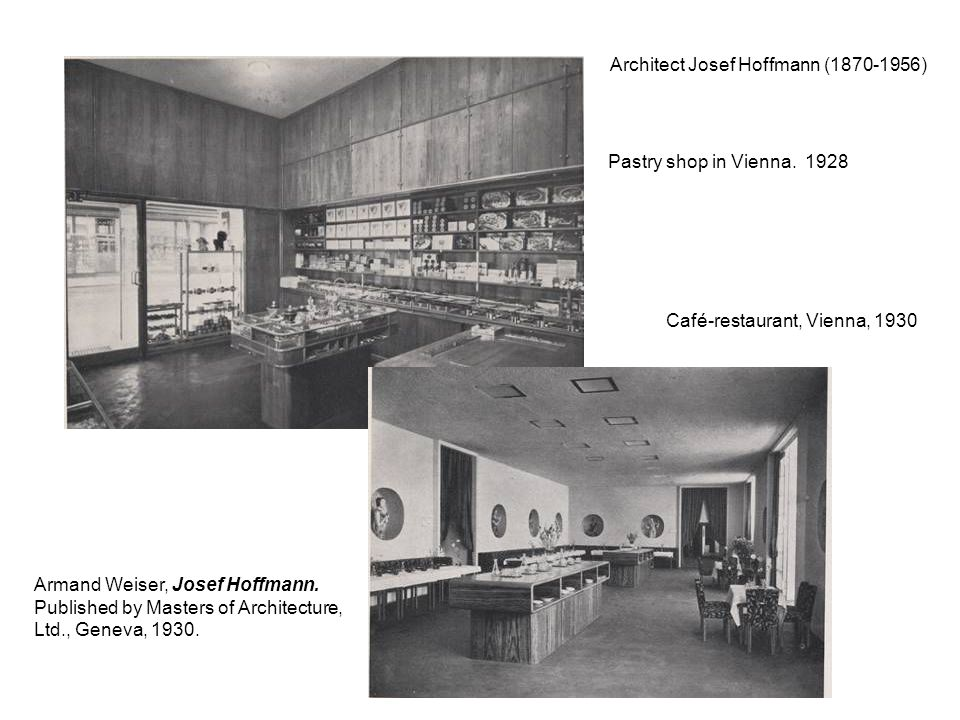 Architect Josef Hoffmann ( )