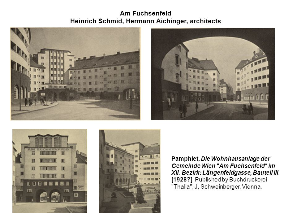 Heinrich Schmid, Hermann Aichinger, architects