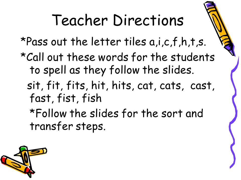 Making Words a i c f h t s First Grade Unit 1 Week ppt