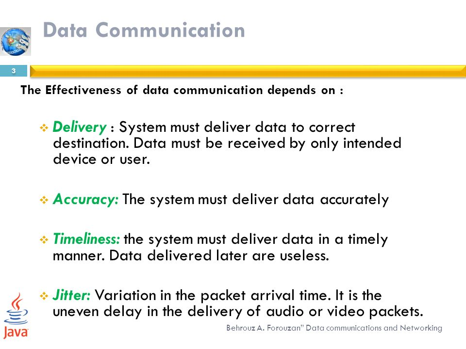 Overview Of Data Communications And Networking Ppt Download