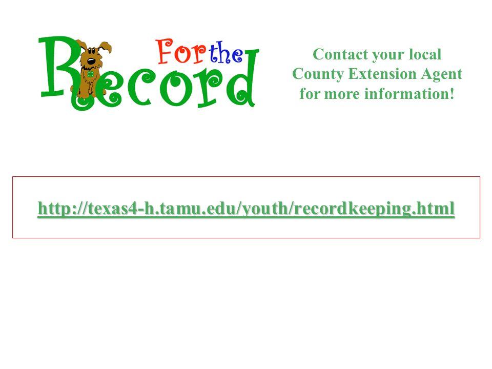 Texas 4-H Recordbook Tutorial - ppt download