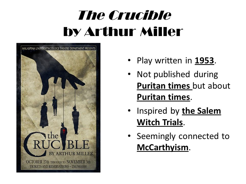 What you need to know before reading The Crucible - ppt video online