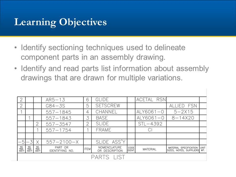 unit 16 assembly drawings ppt download rh slideplayer com