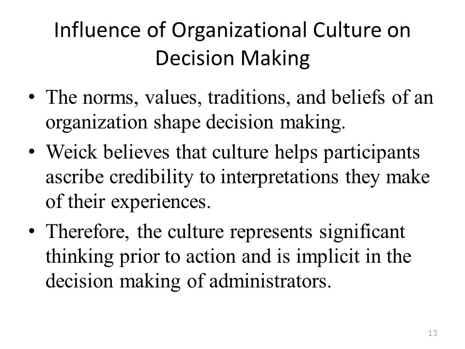 how does culture influence decision making