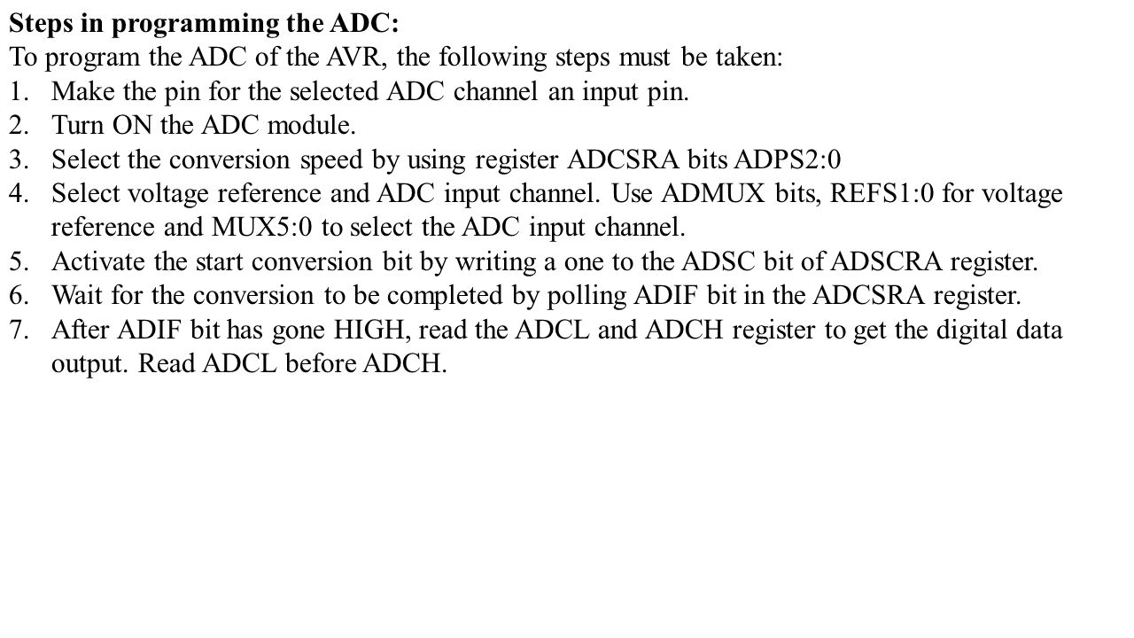 Analog To Digital Converter Adc Ppt Video Online Download Hardware Block Diagram Embedded Lab Steps In Programming The