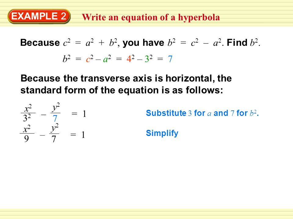 Graph An Equation Of A Hyperbola Ppt Video Online Download