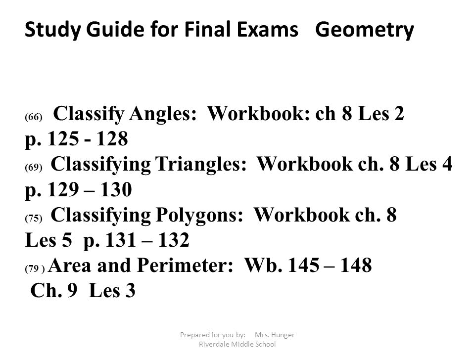 6th Grade Math Study Guide for Final Exam - ppt video online download
