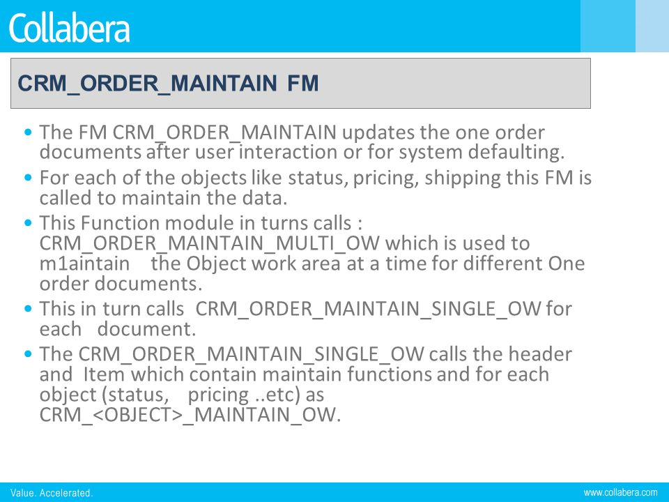 CRM_ORDER_MAINTAIN FM