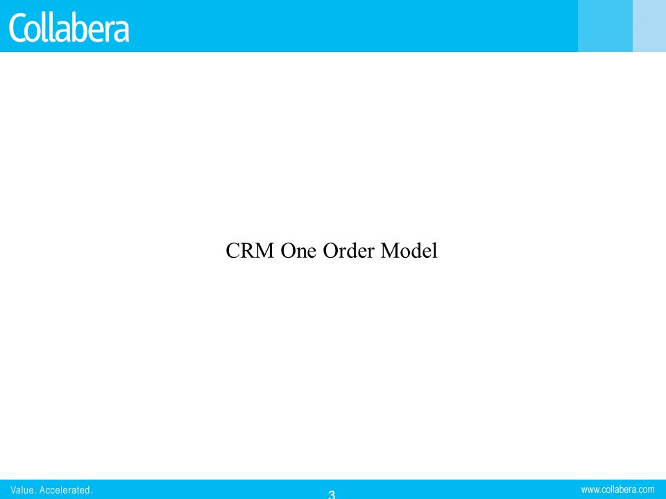CRM One Order Model