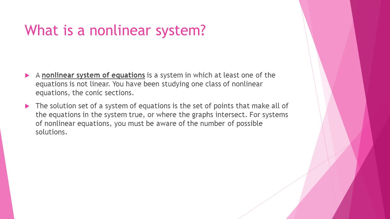chapter nonlinear systems. - ppt download