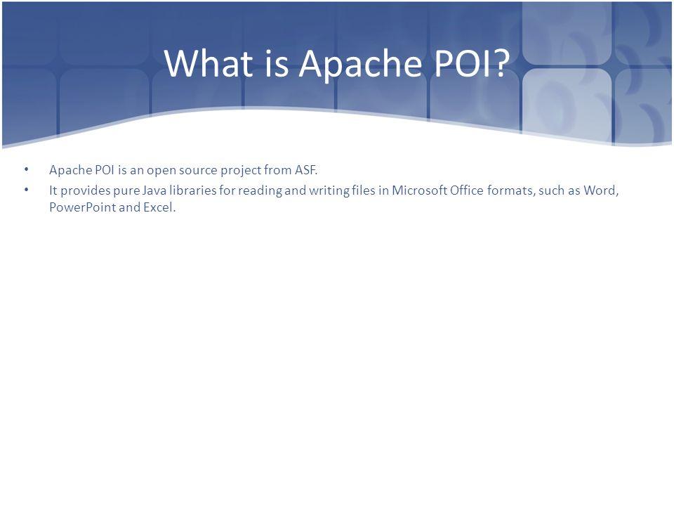 Apache POI Dima Ionut Daniel  - ppt video online download