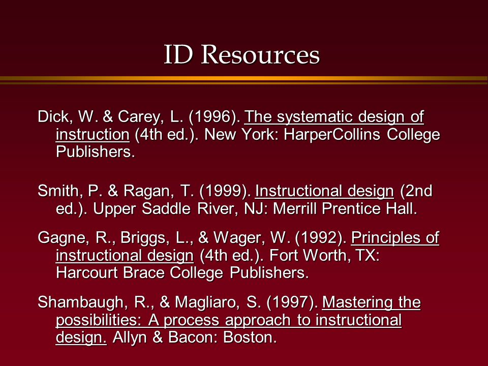 The Instructional Design Process Ppt Video Online Download