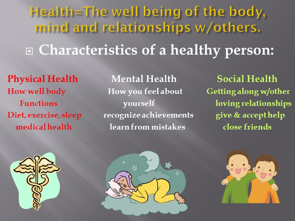 what is a healthy person
