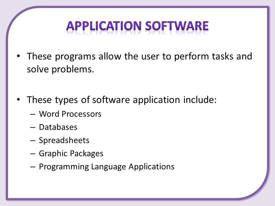 Types of Software Chapter ppt download