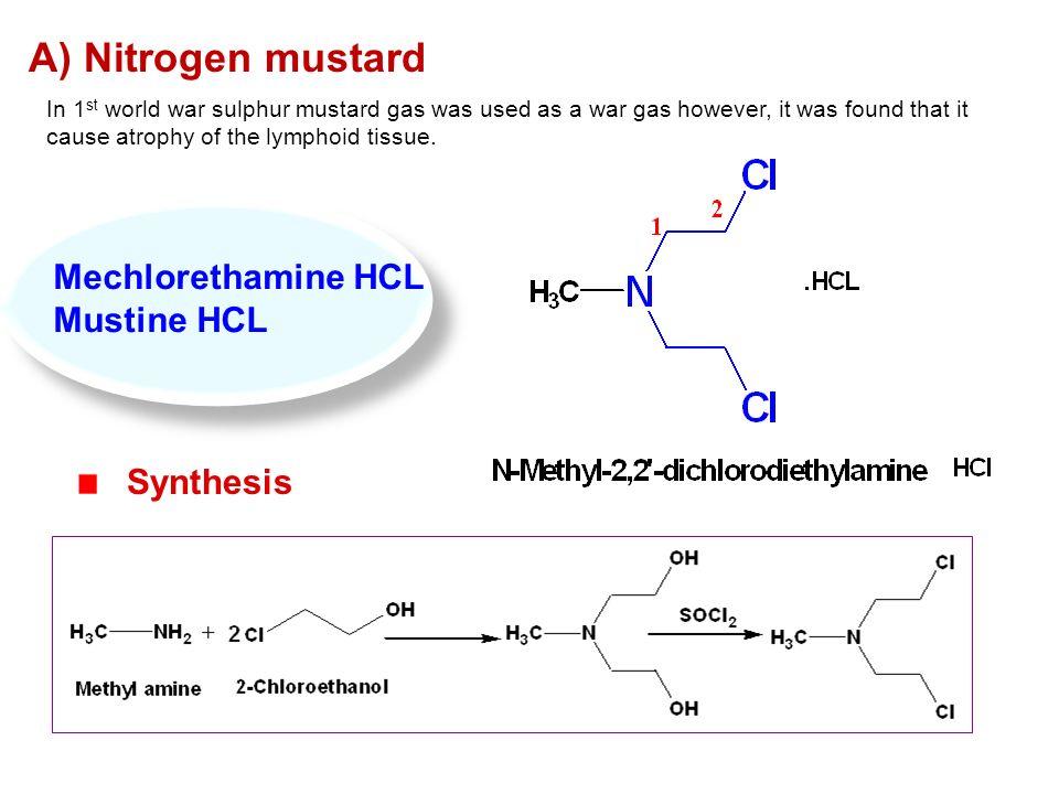 Image result for chemical nitrogen mustard pic