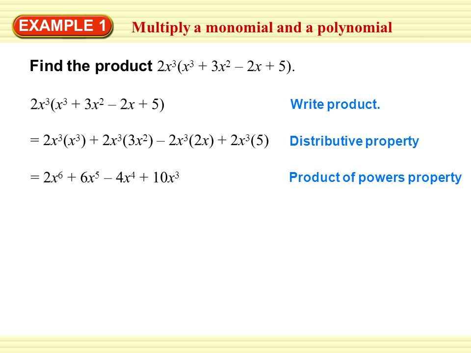 9 2 Multiply Polynomials I Can Multiply Polynomials Ppt Download