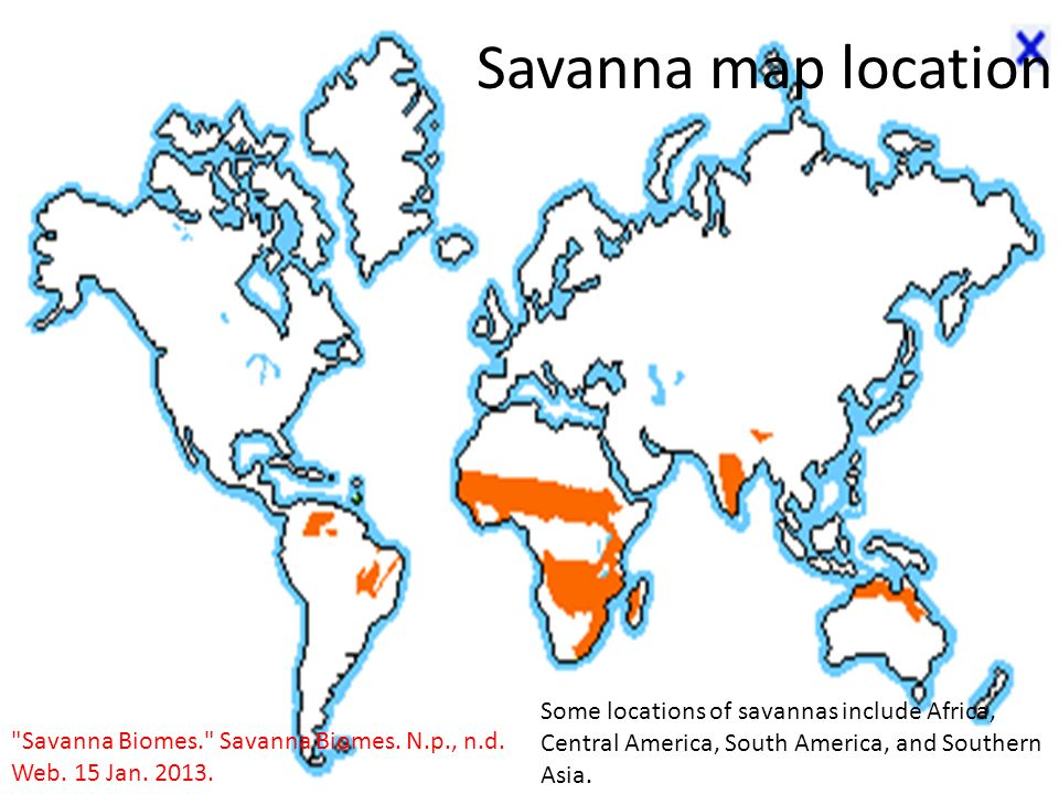 Introduction my biome savanna ppt download 2 savanna map gumiabroncs Image collections