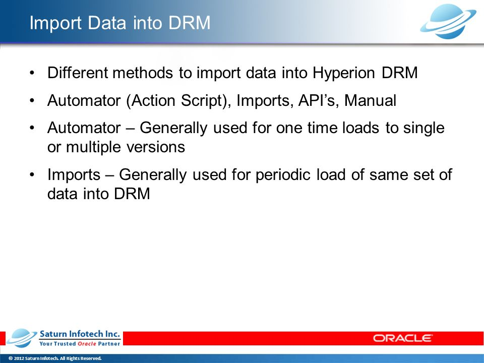 Oracle Data Relationship Management - ppt download