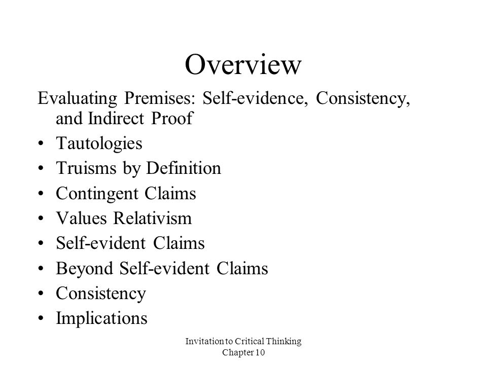 Invitation to critical thinking chapter ppt video online download invitation to critical thinking chapter 10 stopboris Images
