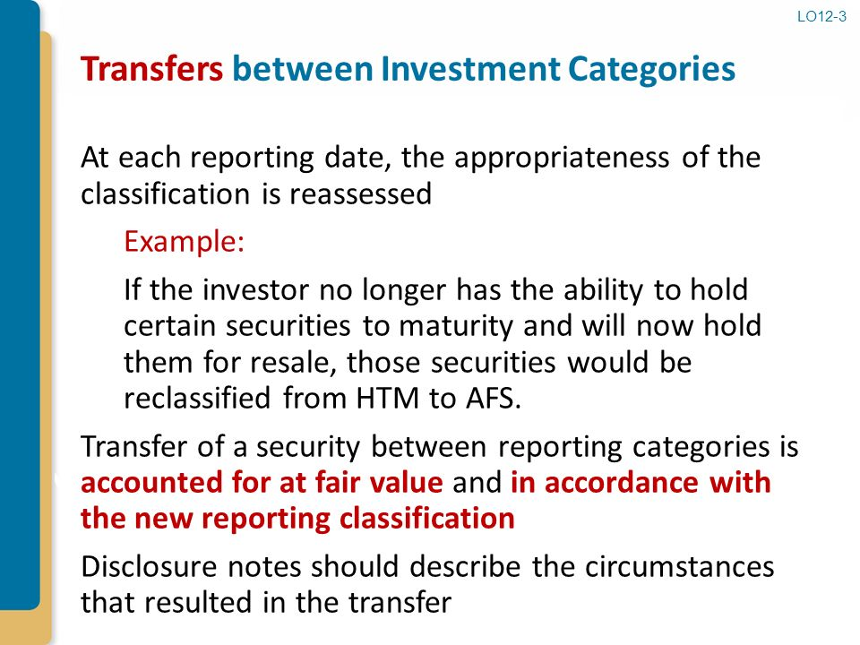 Reclassifying investments from htm to afs acceptance commercial banks converted to investment