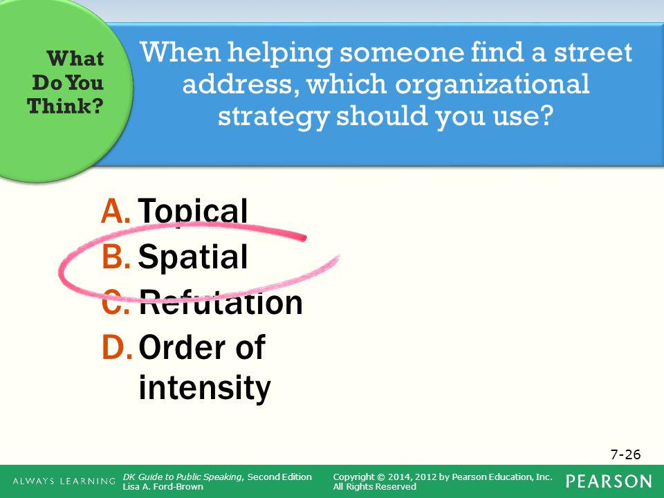 topical organizational style