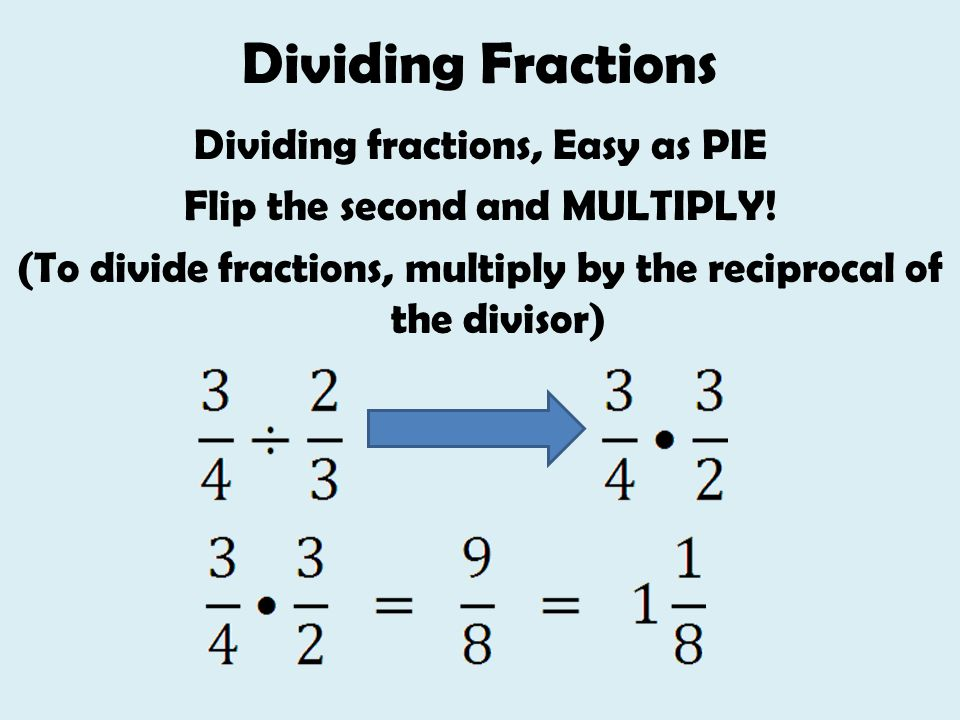 5.4 Dividing Fractions and Mixed Numbers - ppt video online download