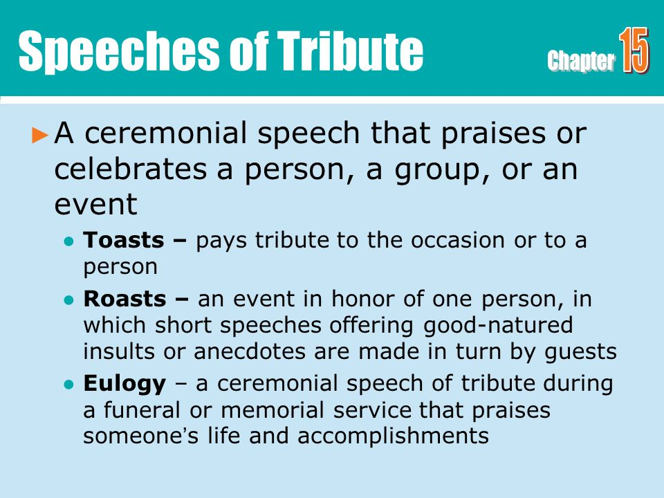 Ceremonial Speaking Speeches For Special Occasions Ppt Video