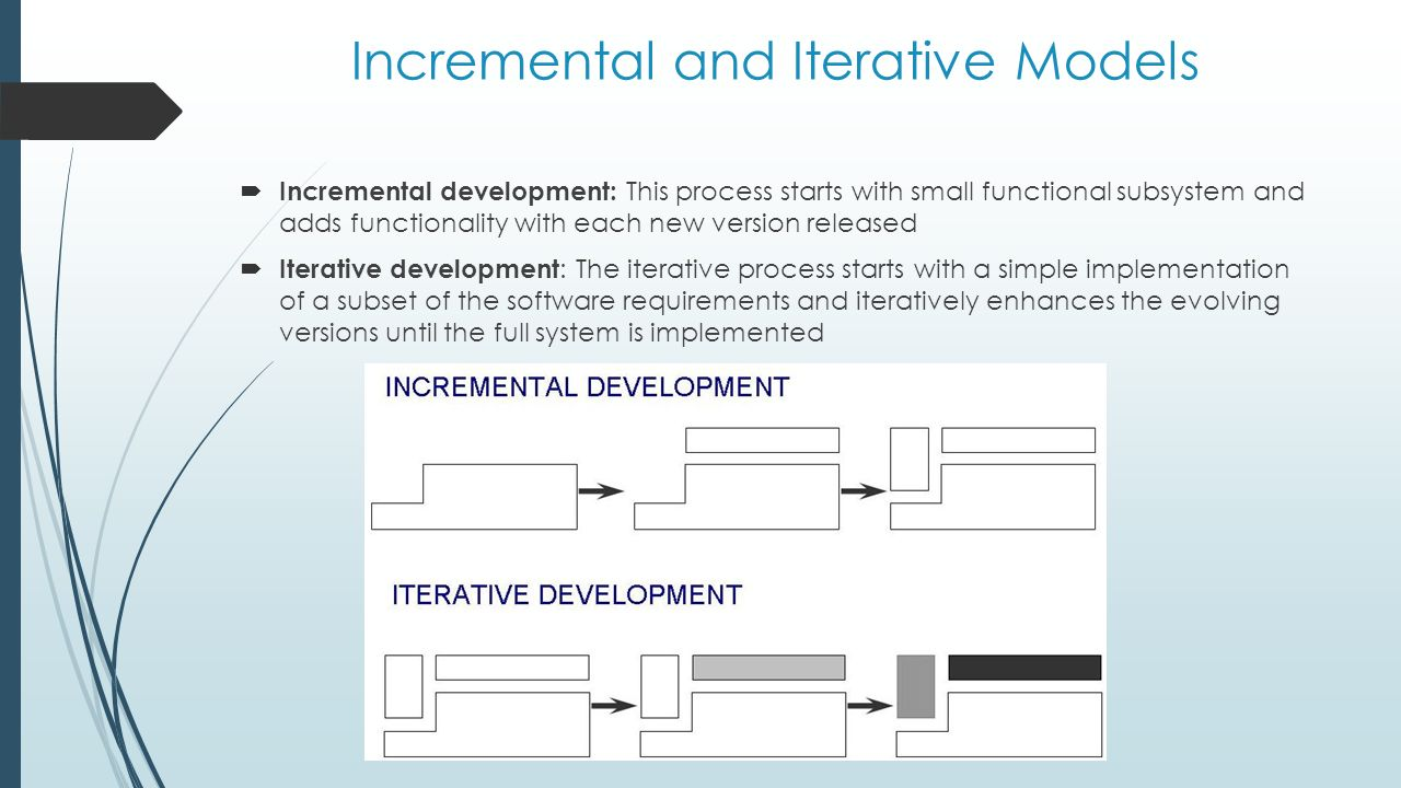 software process modelling ppt video online download28 incremental and iterative models incremental development this process