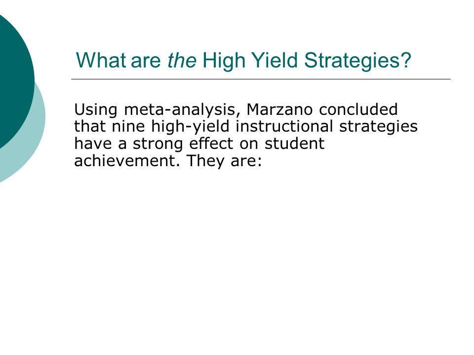 Research Based Strategies For Increasing Student Achievement Ppt