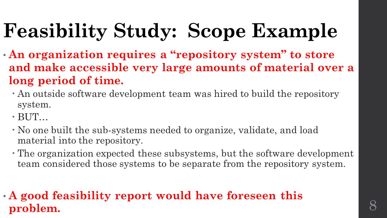 FEASIBILITY STUDY SCOPE OF WORK - Example A. Initial ...