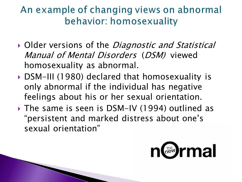 Homosexual normal or abnormal